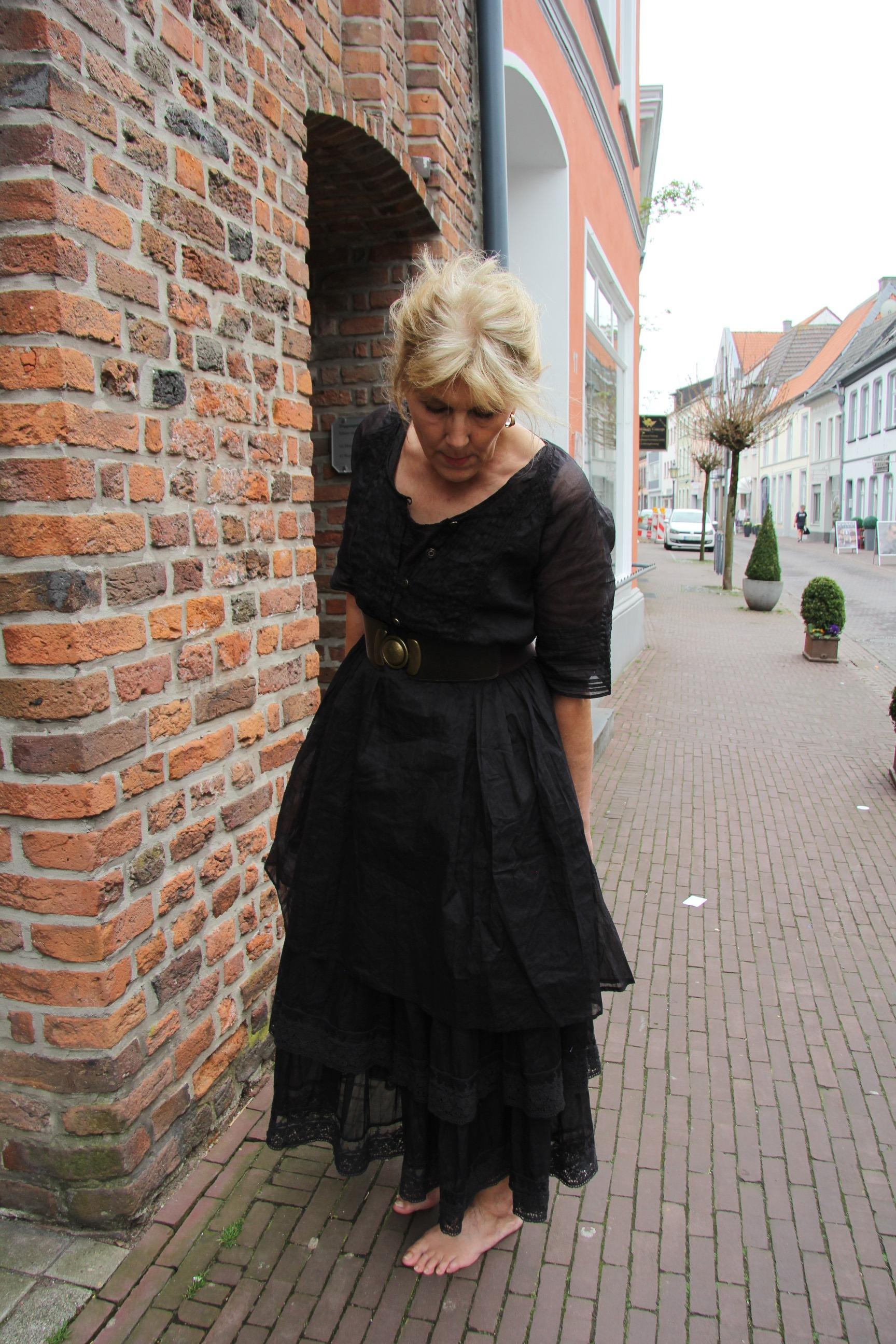 Ewa i Walla Organza Kleid schwarz 55541 SS18