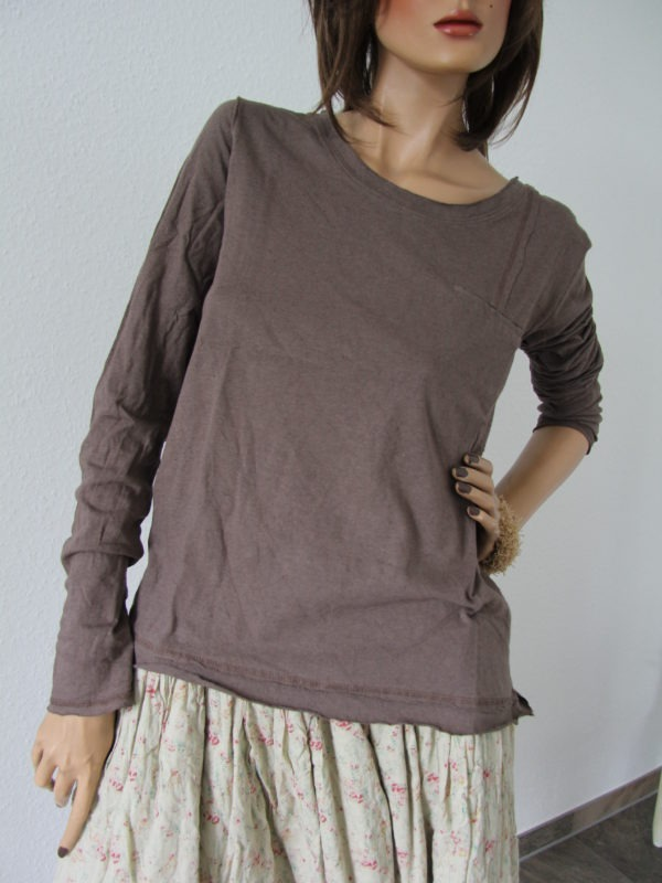 Ewa i Walla  Bluse - Shirt, Art. 44487, Langarm, nougat