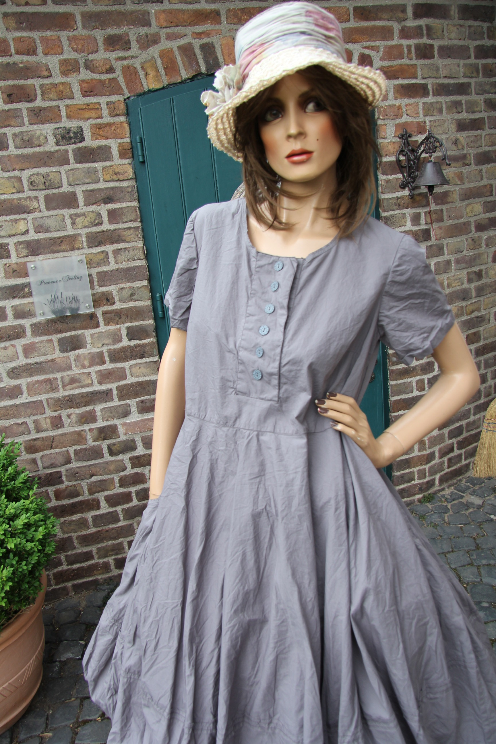 Ewa i Walla dress / Kleid 55488 SS17 / grey