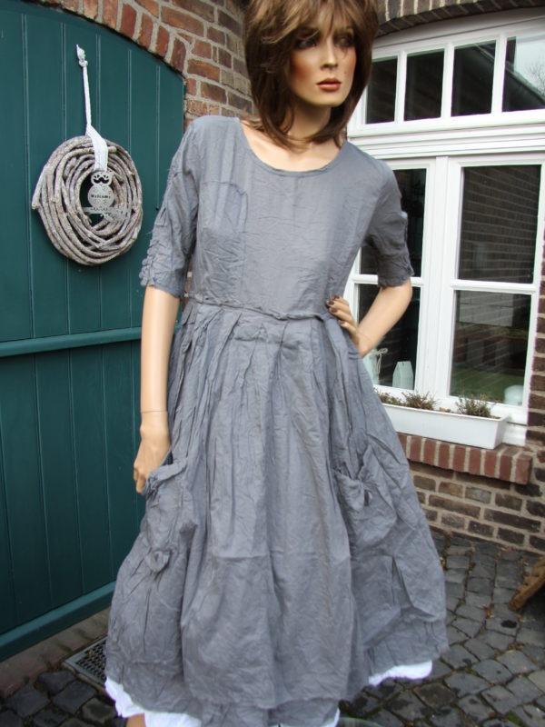 Ewa i Walla dress / Kleid 55496 SS17 / grey / Voile