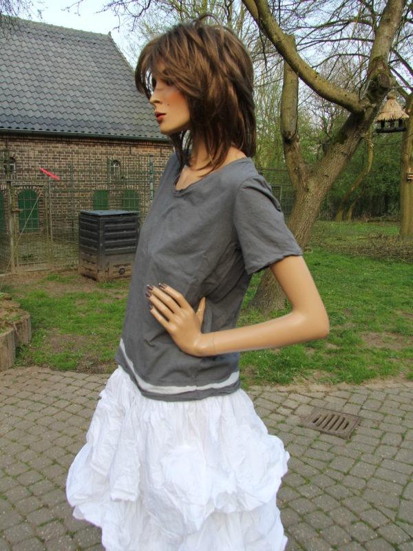 Ewa i Walla Bluse grey 44518 SS17 Jersey Shirt