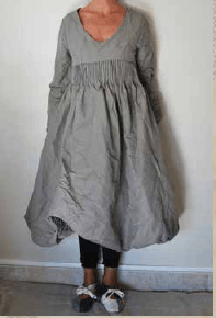 Les Ours Kleid Lyly,Popeline grau, 50189AW17