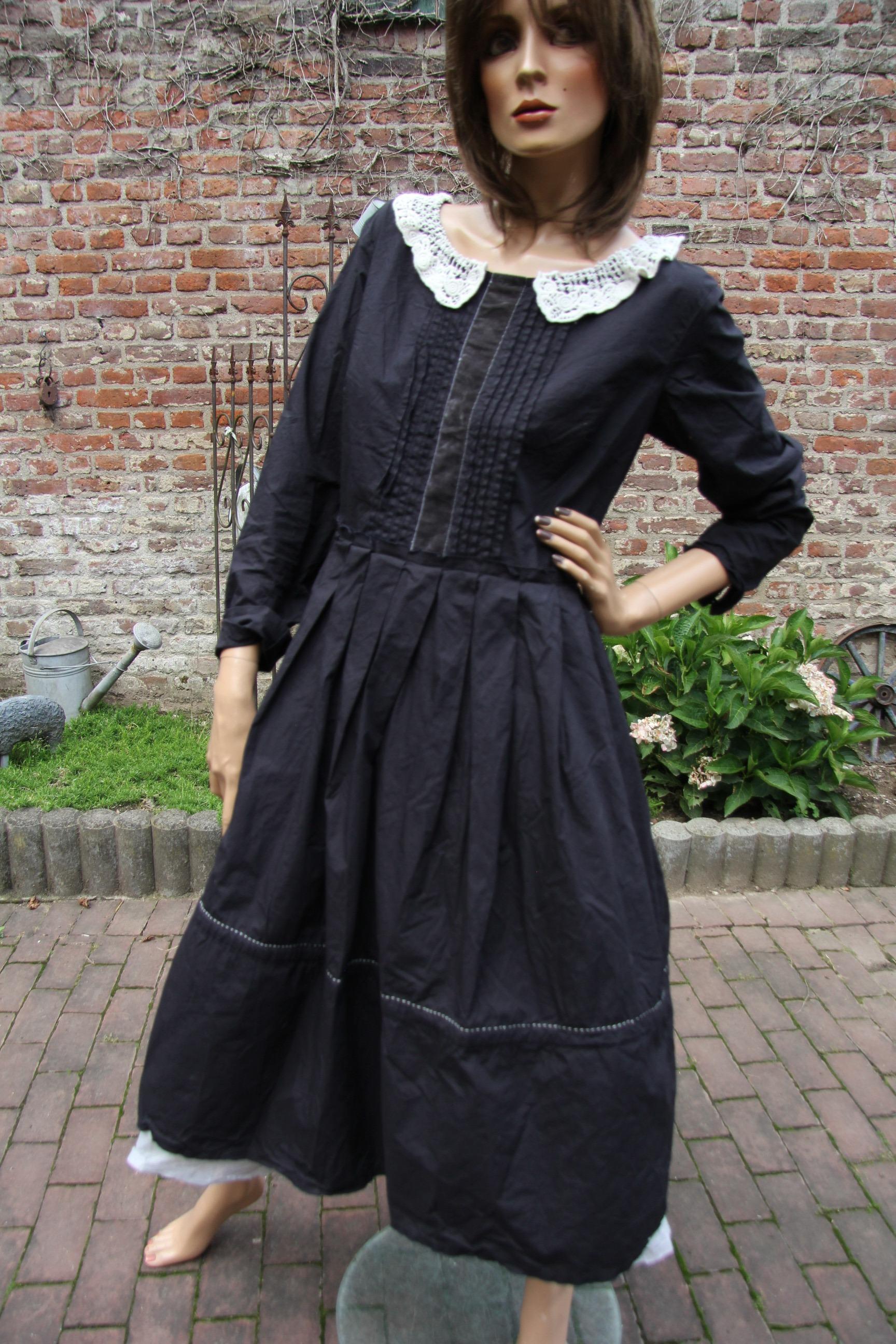Ewa i Walla Kleid Crisp Cotton black 55532 AW17
