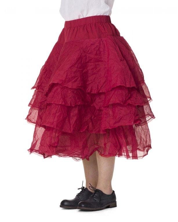 Ewa i Walla Rock Tine Hard Voile 22895 SS18 raspberry red