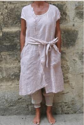 Les Ours Kleid Florine 50198 SS18 Lin Rose