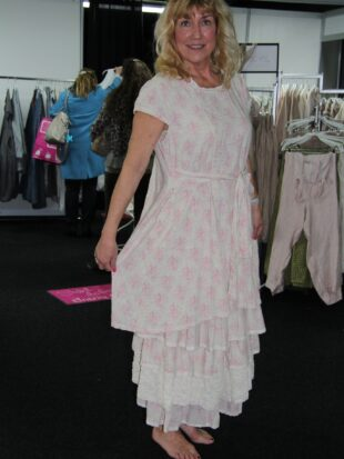 Les Ours Kleid Florine 50199 SS18 Lin Fleurs Rose