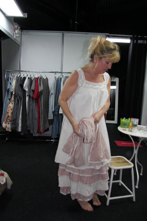 Les Ours Kleid Clara  50208 SS18 Popeline Ecru