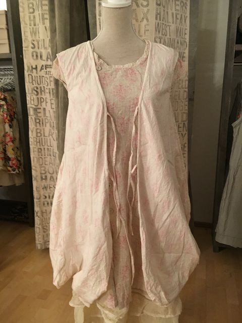 Les Ours Kleid Cleo 50207 SS18 Popeline Fleurs Rose