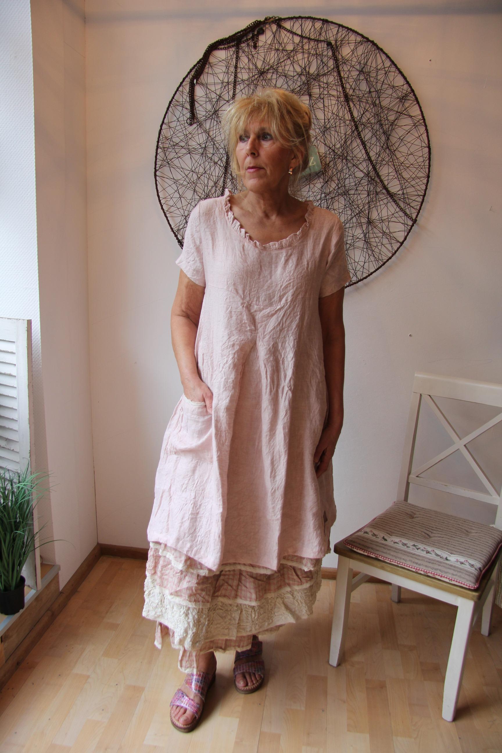 Les Ours Kleid Yvette 50205 SS18 Lin Rose