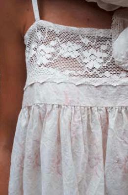 Les Ours Kleid Florie 50211 SS18 Coton Fleurs Rose